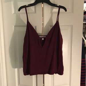 Express Maroon Crop Top